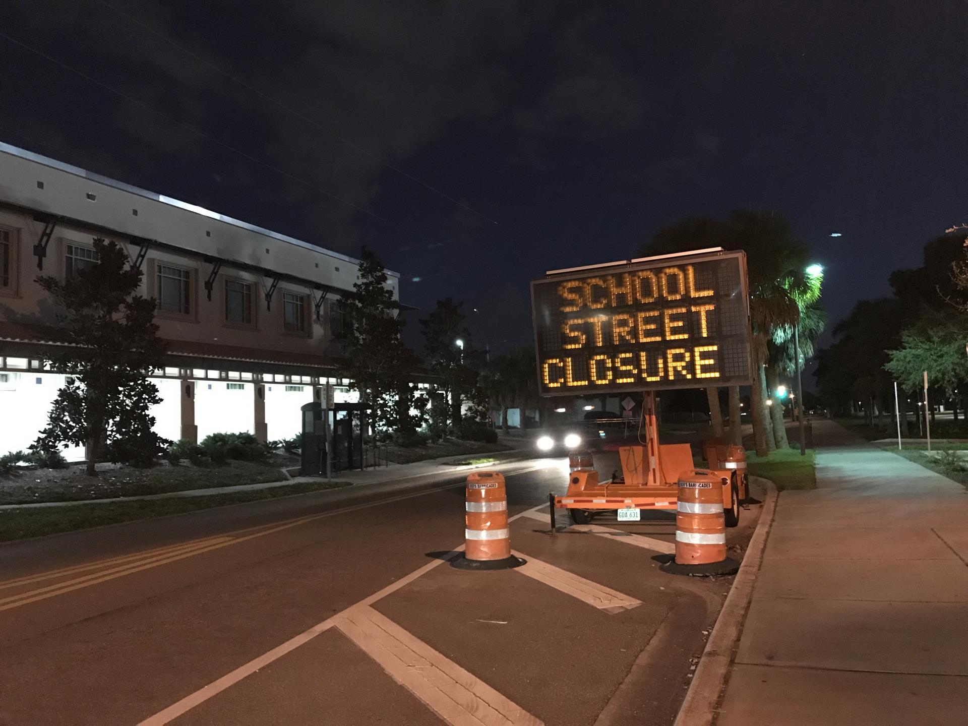 School Ave Closure
