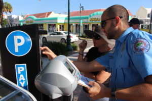 The first parking meter review on St. Armands Circle was held in November 2017.