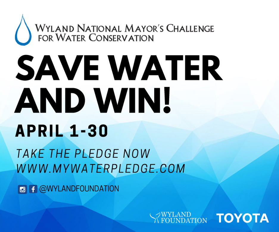 National Mayor's Challenge for Water Conservation graphic