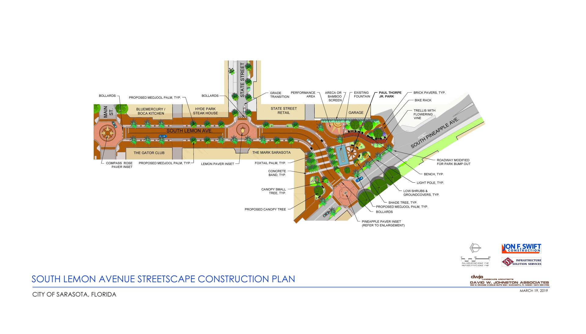 Lemon Avenue Streetscape construction rendering