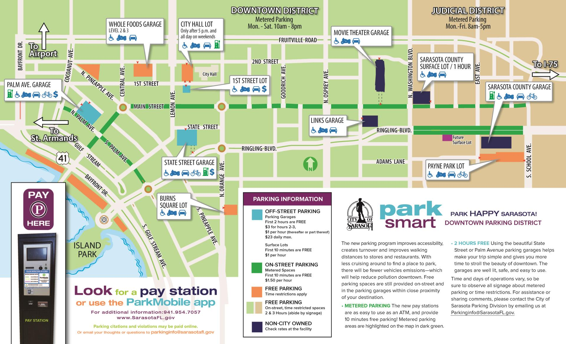 Parking, Downtown Parking Map