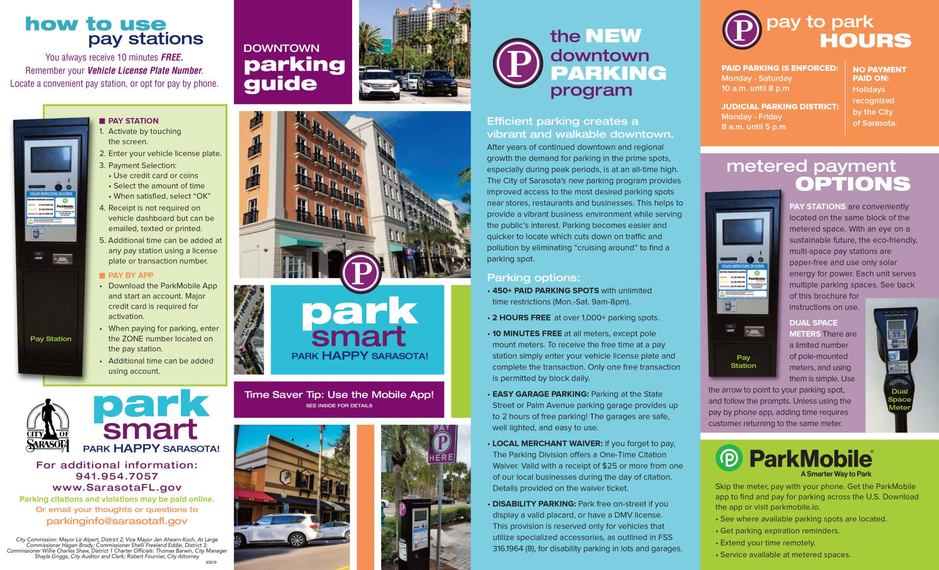 NEW Downtown Parking Map | City of Sarasota on