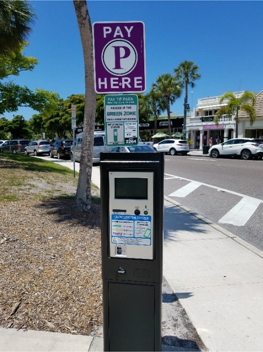St. Armands Pay Station for Parking