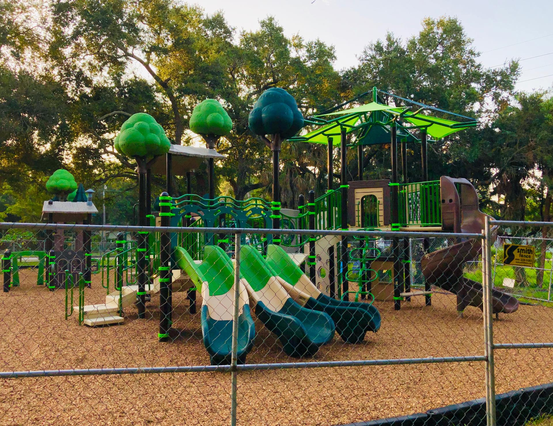 New Playground at Pioneer Park