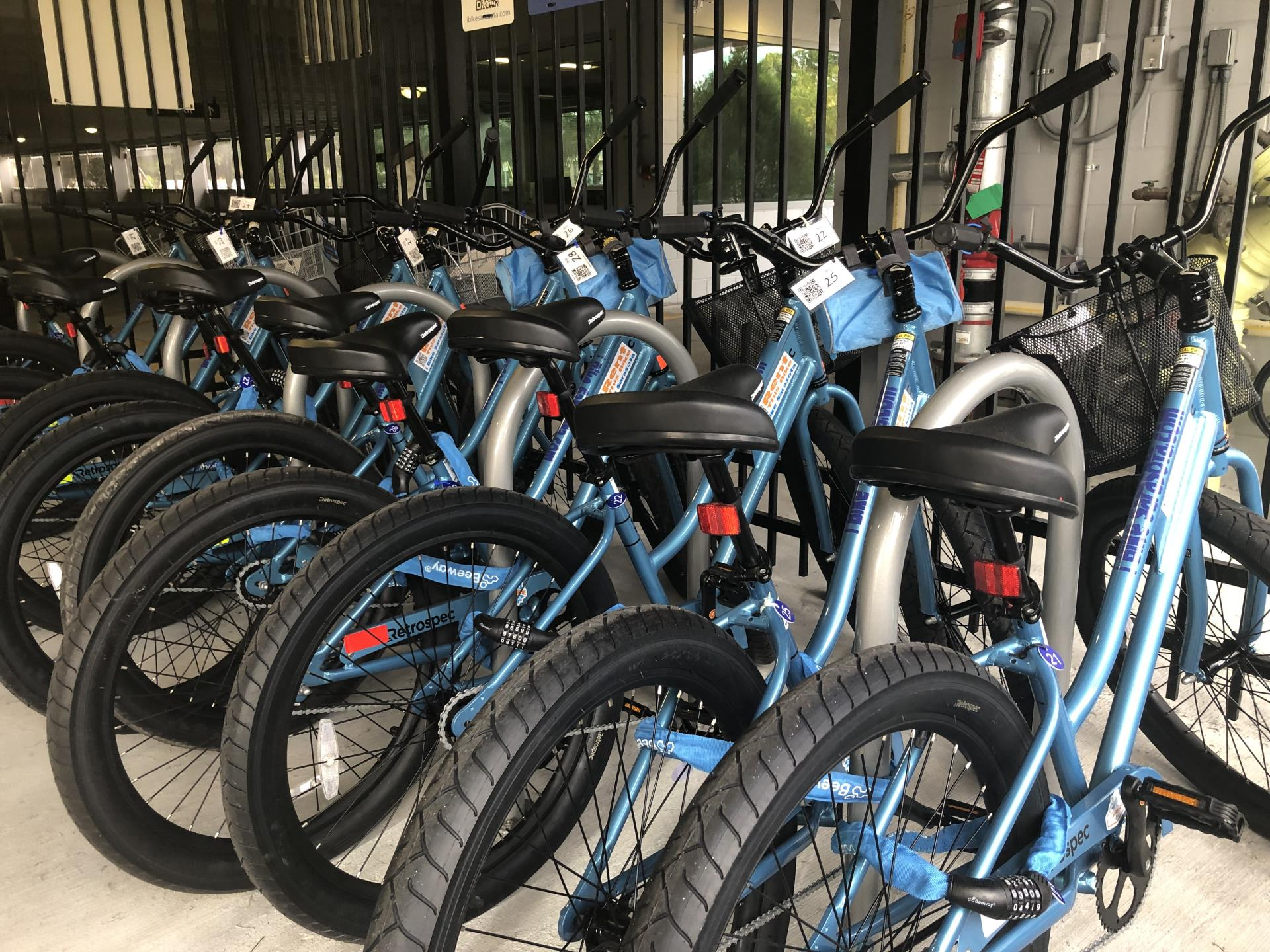 Bicycles available for rent at the St. Armands Garage